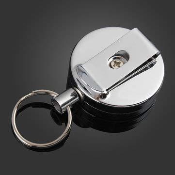 Ring Pull Chain Clip Retractable Plastic Lanyard Holder Badge Carabiner - 1PCs (Rip Drive)