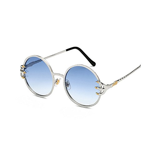hombres Gafas Protección conducir para Frame Garra Viajar de Punk para retro gafas Wolves Decoración Style sol Cool de y UV PC de mujeres Metal sol redondo Gafas Azul esqu Unisex lente Retro de Gafas sol PBnWaTqa