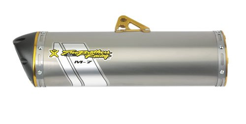 Two Brothers Racing(005-2560406V) Stainless Steel M-7 Aluminum Canister Slip-On Exhaust System