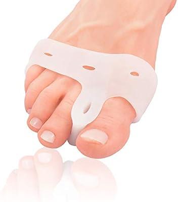 Almohadilla y Separador de Dedos para Juanetes Deluxe de Dr. Fredericks Original – 2 Piezas – Separadores de Dedos Para Personas Activas – Alivio de ...