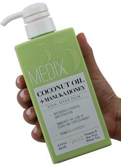 31kEU22y1ZL - Medix 5.5 Argan Cream and Coconut Cream Set. Medix 5.5 Argan Cream with 24kt Gold Reduces Wrinkles and Firms Sagging Skin. Coconut Cream Moisturizes Damaged, Dry Skin. Two 15oz