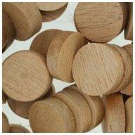 WIDGETCO 3/4'' Mahogany Wood Plugs, Face Grain