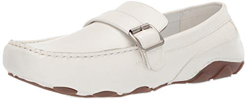 Unlisted by Kenneth Cole Men's String Along Driving Style Loafer White 8 M US (Unlisted Shoes White)