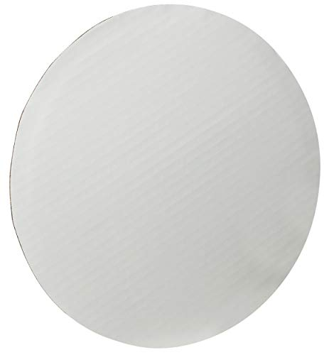 "12"" Corrugated Sturdy Grease Proof White Cake/Pizza Circle by MT Products (15 Pieces)"