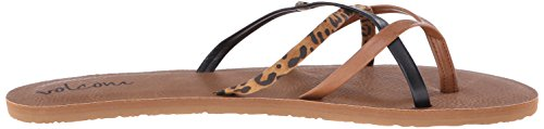 Volcom New School, Chanclas Para Mujer Mehrfarbig (Cheetah)