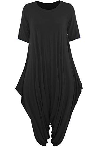 Manches Unique Uni 21fashion Femme Taille Noir Courtes Gris Combinaison w0Oaq4Ea6