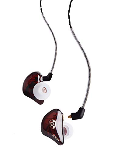 BASN Bsinger BC100 in Ear Monitor Headphone Universal Fit Noise Cancelling Earphone for Musician Singer Band Studio Audiophile