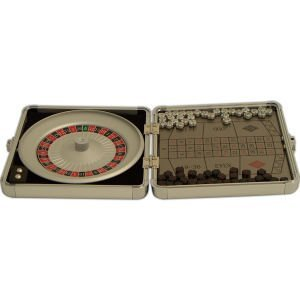 Travel Roulette Set - Magnetic Roulette Game Set in Stainless Steel Case