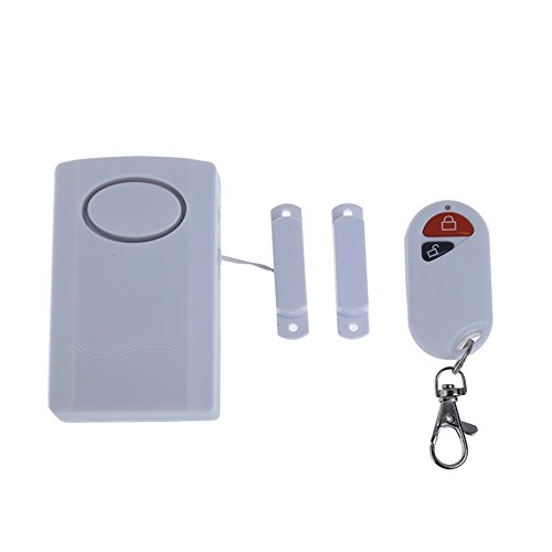 Mengshen Wireless Remote Control Vibration Window Door Magnetic Strip Magnetism Sensor Detector Burglar Alarm Entry Security System 120db MS-M69