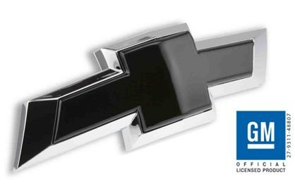 Billet Bowtie Grille Emblem 2016-2017 Chevy Silverado 1500 (Black) SL283B (Billet Tie Black Bow)
