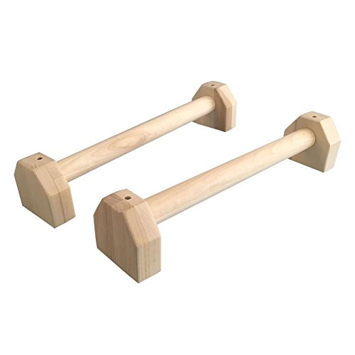 Intenst Wooden Push Up Bar, Calisthenics Handstand Pushups,Stands Bars, Yoga Exercise Gymnastics Strength Training Tool Fitness Equipment for Bodyweight Home