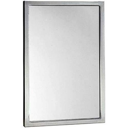 Bobrick B-165 1830 Channel-Framed Mirror, Stainless Steel
