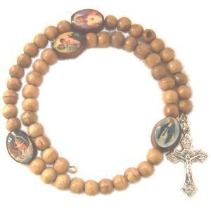 Wood Olive Chaplet (Olive Wood Chaplet Braclet- Oval Beads)