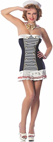 Delicious Stars And Stripes Sailor Costume, Blue/White,
