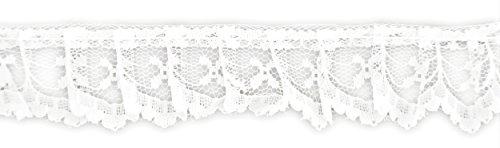 BELAGIO Enterprises White Gathered Lace Trim
