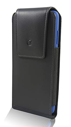 Genuine Leather Carry Case - monsoon [Alpha] Genuine Leather Case Holster with Belt Clip for Samsung Galaxy S10+ Plus / S9+ Plus / S8+ Plus [fits with Slim-Medium Case]