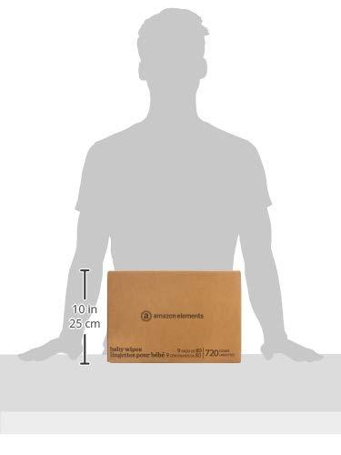 Amazon Elements Baby Wipes, Sensitive, 720 Count Flip-Top Packs
