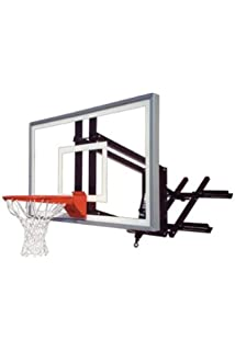 First Team RoofMaster Nitro Roof And Wall Mount Basketball Hoop With 60  Inch Glass Backboard