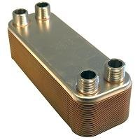40-plate Brazed Heat Exchanger, 1'' mnpt ports by Brazetek