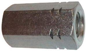 1-8 UNC, 2-3/4'' Long, Steel, Standard Coupling Nut Zinc Plated, 1. Material May Have Surface Scratches