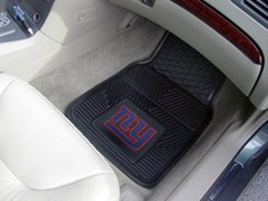 NFL New York Giants Car Floor Mats Heavy Duty 4-Piece Vinyl - Front and