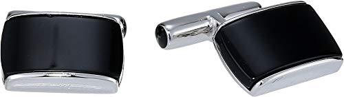 Cufflinks Inc. Men's Sterling Silver Onyx Cushion Cufflinks Black One Size