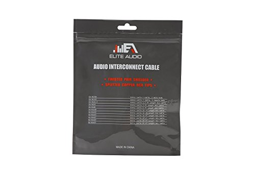 Elite Audio EA-RCA25 25 2-Channel Twisted Pair RCA Cable Interconnect Split Pin Connector 100/% Copper Noise Cancelling Professional Grade