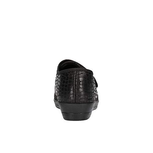 Por Soft Mujer Cinzia Casa De Negro Estar Zapatillas Para OgwxxqdI0