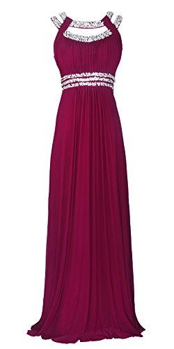 Semi Licoco Beaded 70 Wedding Women Formal Long Sleeveless Plum Maxi Gown Evening Dress qfftAHrn