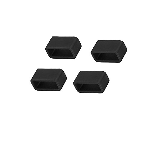 - EverActTM 4 PCS Silicon Fasteners for Fitbit Alta/Flex,Black Color