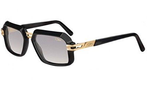(Cazal 6004 Sunglasses 001SG Shiny Black Gold / Grey Gradient Lens 56 mm)