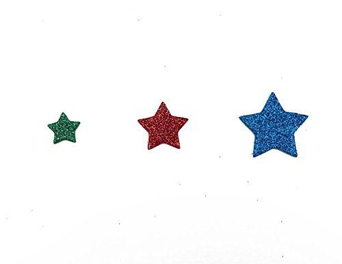 Hyamass 6 Packs (Approx 300pcs) Multicolor Self Adhesive Glitter Star Foam Stickers (Star)