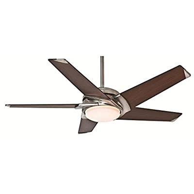 "Casablanca 59090, Stealth Brushed Nickel Energy Star 54"" Ceiling Fan with Light & Wall Control"