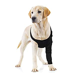Suitical Recovery Sleeve Dog, Extra Large, Black