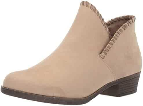 f00b83643645 Rampage Women's Tametha Western Ankle Bootie with Whip Stitch Upper Design  Boot, Taupe Micro 8