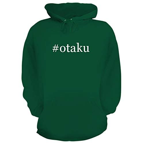 BH Cool Designs #Otaku - Graphic Hoodie Sweatshirt, Green, Large