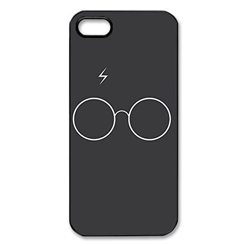 Harry Potter Hogwarts Crest - black Hard Cover Case for iPhone 5 5s (Harry Potter Cell Phone Case)