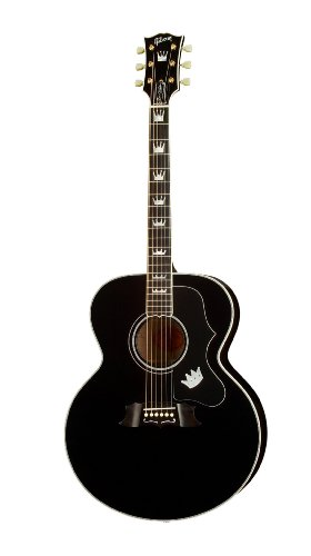 Gibson Elvis King of Rock J-200 Acoustic-Electric Guitar, Ebony