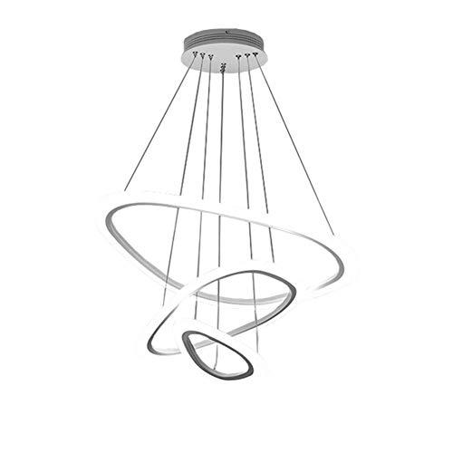 Sparkly Led Stripe Chandelier, Luxury Acrylic Shade Ceiling Lamps Bright Living Room Restaurant Decor Pendant Light-White Light-a - Stripes Bronze Pendant White