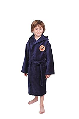 Soft & Softly 100% Turkish Cotton Kids Bathrobe with Embroidered