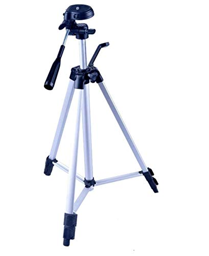 Powerpak Photo X5 4.5 Feet Flat 53 inches Tripod Stand with 3 Way Panhead for Digital DSLR, Video Camera, Camcorder