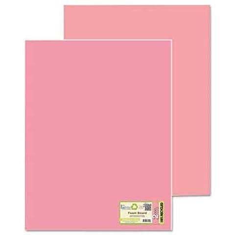 Eco Brites Too Cool Foam Board, 20x30, Fluorescent Pink/Pink, 5/Carton - Fluorescent Pink Poster Board