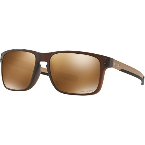 Oakley Men's Holbrook Mix Polarized Iridium Rectangular Sunglasses, Matte Rootbeer, 57.0 - Sunglasses Oakley Holbrook Polarized