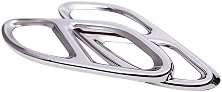 Nrpfell Auspuff Blenden für W213 W205 Coupe W246 W216 GLC GLE GLS CLA (15-19) Silber