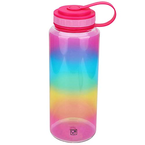 TOP APEX ENTERPRISES LIMITED Tritan 32oz Wide Mouth BPA-Free Water Bottle Rainbow bottle with Peace lid