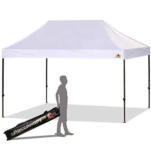ABCCANOPY 10x15 Ez Pop-up Canopy Tent Commercial Instant Canopy with Roller Bag (10x15 White)