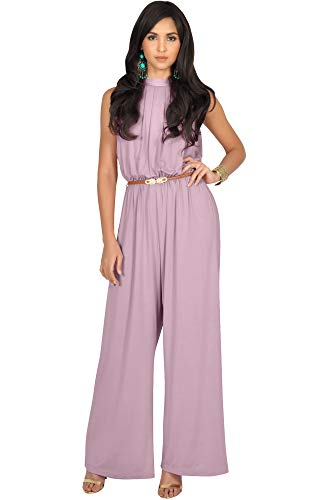 KOH KOH Womens Sexy Sleeveless Wide Leg Pants Cocktail Pantsuit Jumpsuit Romper