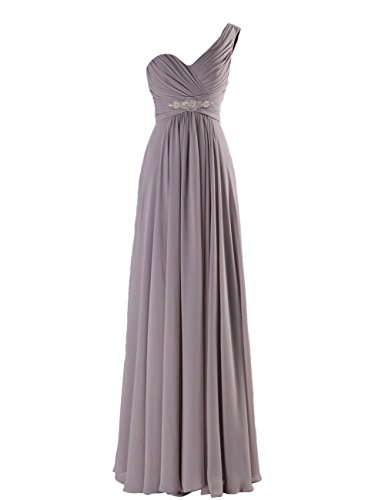 Long Shoulder Prom Gowns Gray C198LF Dress Women CaliaDress One Evening Bridesmaid Ew8wqC