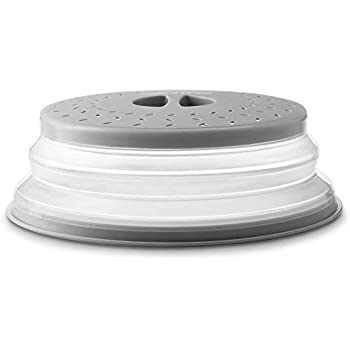 Gourmia GML9930D Collapsible Microwave Cover - Dome or Flat Bowl and Plate Lid - Prevents Food Splatter, Keeps Oven Clean - Expands from 1