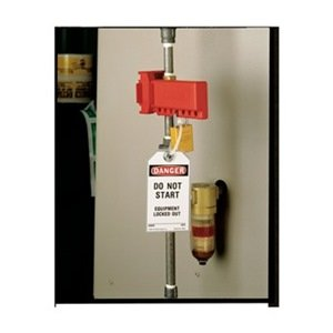 Ball Valve Lockout, 2 to 8 In., Red